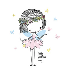 little forest fairy vector image
