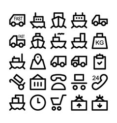 Logistics delivery Icons 1 vector image vector image