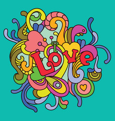 Love for valentines day vector