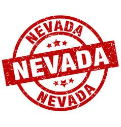Nevada red round grunge stamp vector