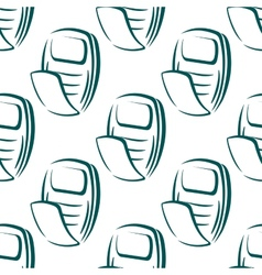 Seamless pattern of a retro mobile phone vector image