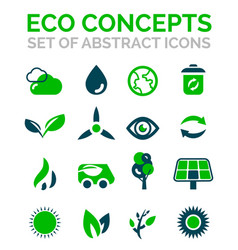 Set of eco nature environmental icons vector