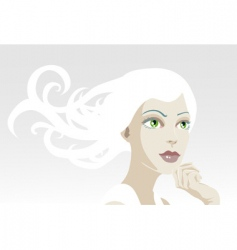 Tranquil woman vector