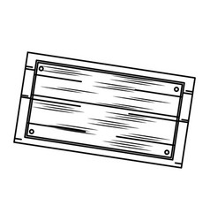 wooden board old style blank icon vector image vector image
