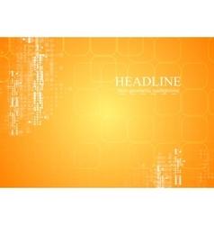 Yellow orange tech geometric background vector image vector image