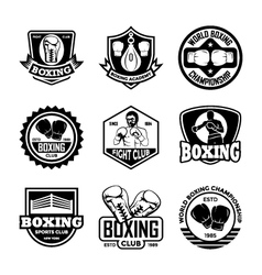 Boxing Badges vector image