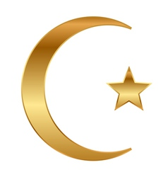 Star and crescent vector