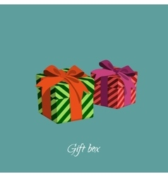 Gift box with strips in a cartoon style vector image