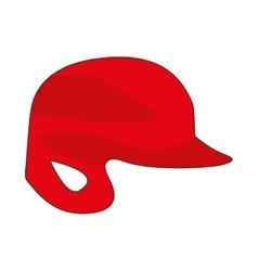 baseball helmet icon image vector image