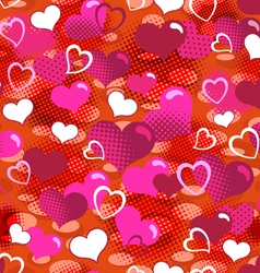 Lovely hearts seamless background vector