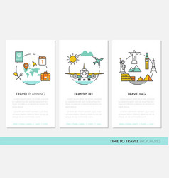 Travel vacations business brochure template vector