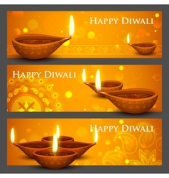 Diwali holiday banner vector