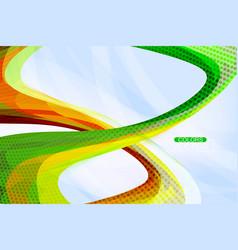 Colorful spiral shape scene vector