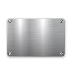 3d metal plate vector image