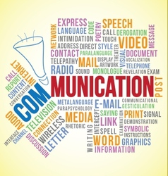 Communication word vector