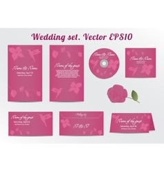 Invitation save the date card set - for wedding vector