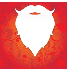 Christmas santa claus beard vector image