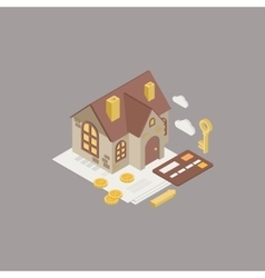 House mortgage vector