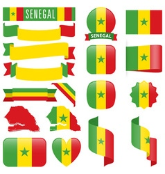 Senegal flags vector