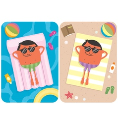 Summer vacation vector