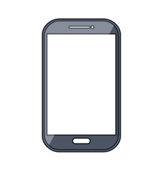 Mobile smartphone device isolated flat icon vector