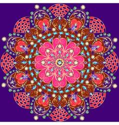 Background circular ornaments of precious vector
