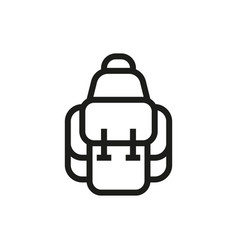 Backpack icon on white background vector