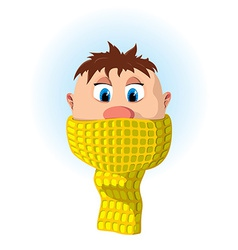 Boy with scarf vector