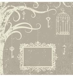cage keys vector image vector image