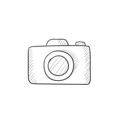 Camera sketch icon vector image