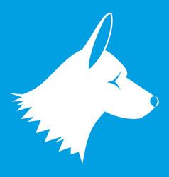 Collie dog icon white vector