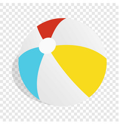 colorful ball isometric icon vector image