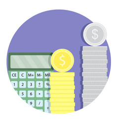 Count money budget finance icon vector