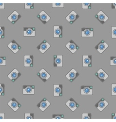 Digital Camera Icon Seamless Pattern vector image