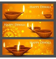 Diwali Holiday banner vector image vector image