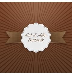 Eid al-adha mubarak paper badge vector