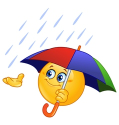 emoticon with umbrella vector image
