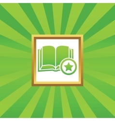 Favorite book picture icon vector