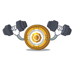 Fitness komodo coin character cartoon vector