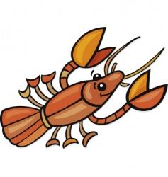 funny crayfish vector image vector image