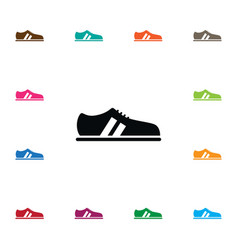 Isolated snickers icon shoelace element vector