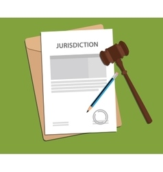 jurisdiction concept with paper work vector image vector image