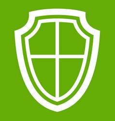 shield icon green vector image