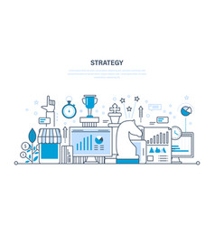 strategy planning analysis control statistics vector image