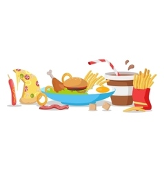 Tasty Fast Food Banner vector image