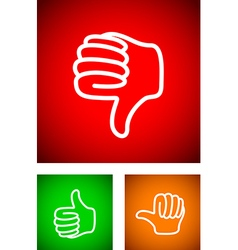 Thumbs down vector