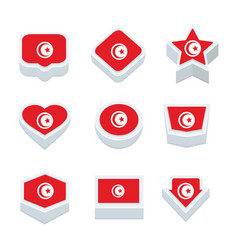 Turkey flags icons and button set nine styles vector