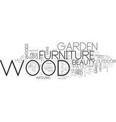 Wood garden furniture text word cloud concept vector