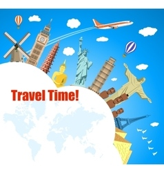 World Travel Planning summer vacations vector image vector image
