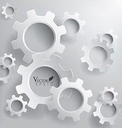 Abstract 3d gears background vector